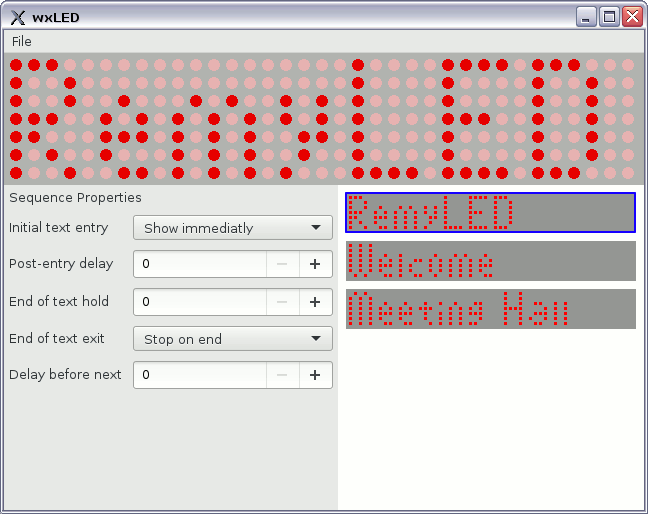 Main program window