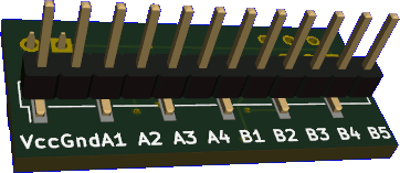 Rendered PCB underside