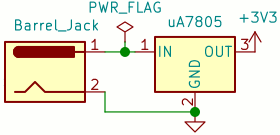 Power connector schematic