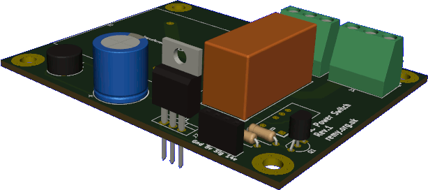 Rendered PCB