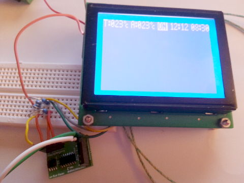 Hooked up to LCd display